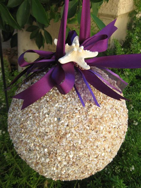 how to color styrofoam sand or bird seed covered styrofoam balls add ribbon in
