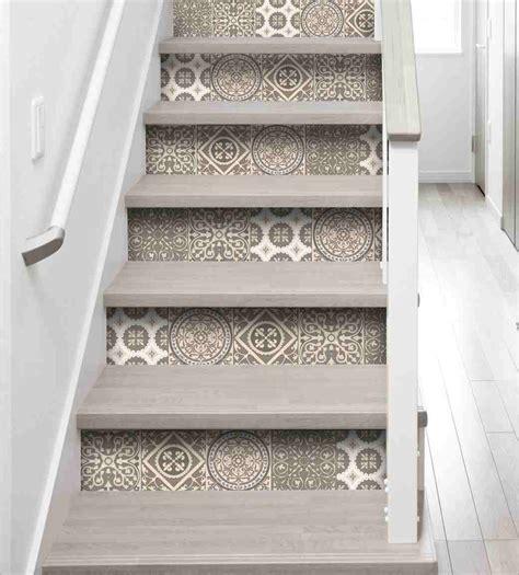 couleur peinture chambre ado set de 3 stickers pour contremarche d 39 escaliers quot carreaux