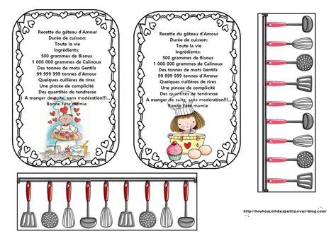 poeme cuisine fête des mamies quot carte tablier bonne fête mamie