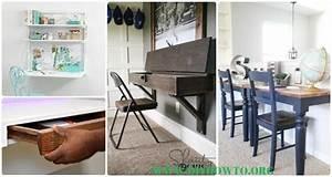 Diy Wall Mounted Desk Free Plans  U0026 Instructions
