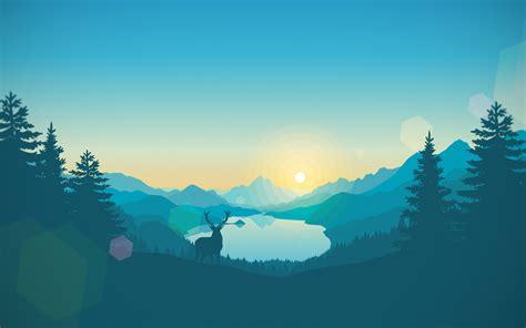 Wallpaper Sunrise, Lakeside, Firewatch, Minimal, Hd, 4k