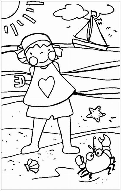 Coloring Summer Pages Beach Printable Age