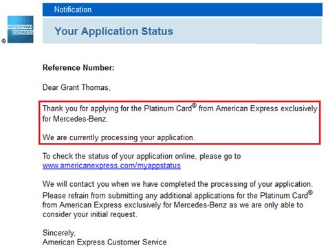 Thank You For Accepting My Resume by App O Rama Update American Express Platinum Mercedes Charge Card Approval