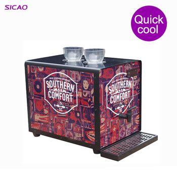 2 bottles machine dispenser liquor chiller cold vodka bottle refrigerator dispenser