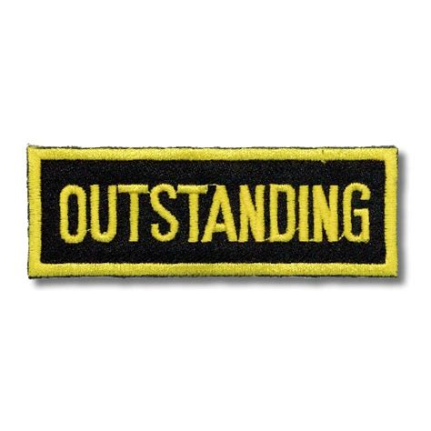 Outstanding Patch  Black And Gold Patches  Outstanding. Drug Use Signs. H2o Signs Of Stroke. Lung Ultrasound Signs. Functional Outcome Signs. Integración Sensorial Signs. Dissociation Signs. Animation Signs. Senior Night Signs