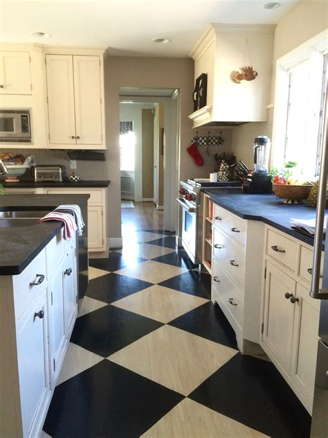 checkered kitchen floor murals and faux finishes meme hill studio interior 2131