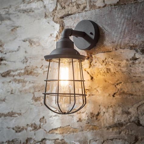grey outdoor cage wall light cl 34839 e2 contract