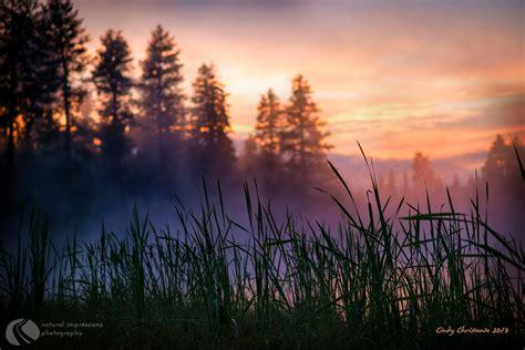 Walton Lake Storm Fog Central Oregon Natural