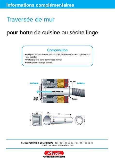 conduit de hotte de cuisine conseils bricolage maison longueur maximum tuyau hotte