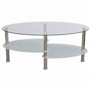 Table Basse Ovale Blanche : ts9 le roi du meuble ~ Teatrodelosmanantiales.com Idées de Décoration