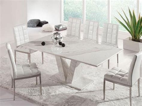 small white marble dining table hera white grey marble v leg dining table and 6 chairs
