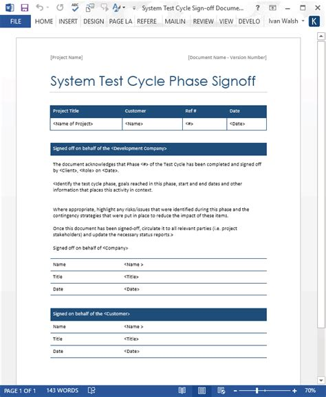 test case template ms word software testing