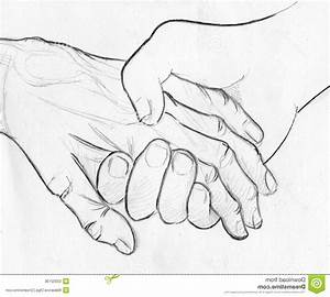 Pencil Drawings Of People Holding Hands Anime Couple ...