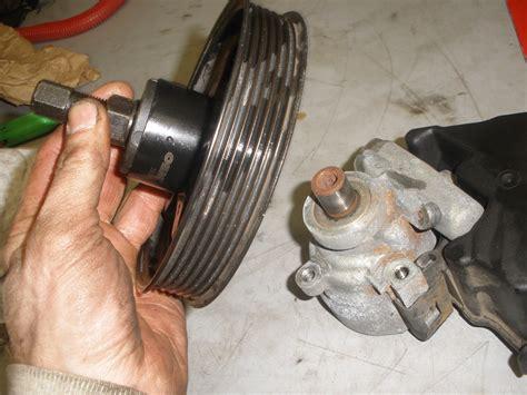 Power Steering Pump Pulley Change