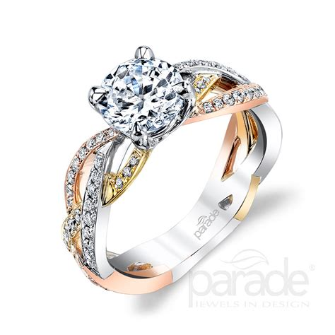 parade s mixed metal engagement rings are enchanting in
