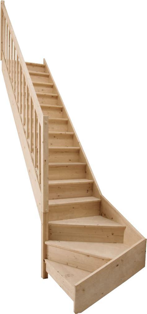 escalier quart tournant gauche bas en sapin bricoman les nouveaux entrepreneurs