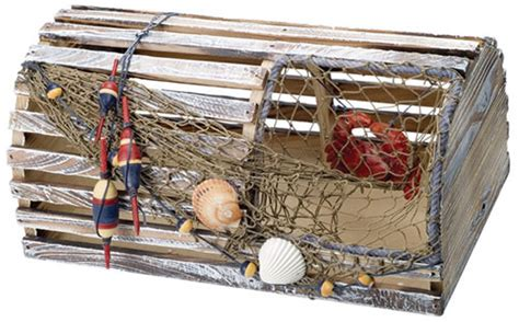 Decorative Wooden Lobster Trap by Decorative Lobster Trap
