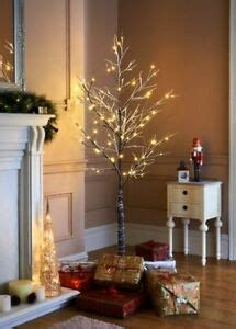 6ft white led tree 6ft snowy effect warm white twig tree pre lit 120 led indoor outdoor 5060320309943