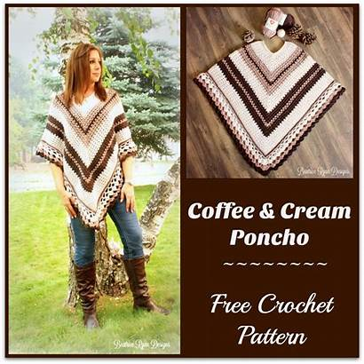Poncho Pattern Coffee Cream Crochet Patterns Elena