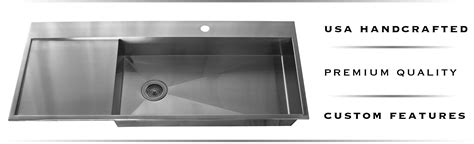 stainless steel kitchen sink with drainboard copper and stainless steel drainboard sinks havens metal 9405
