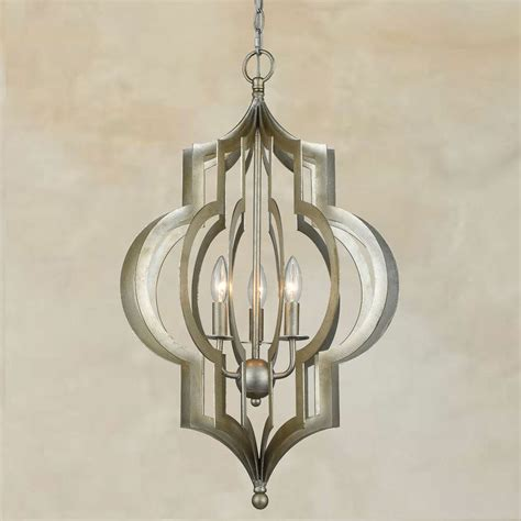 Large Lantern Style Chandelier - new tuscan large 28 quot silver iron pendant chandelier