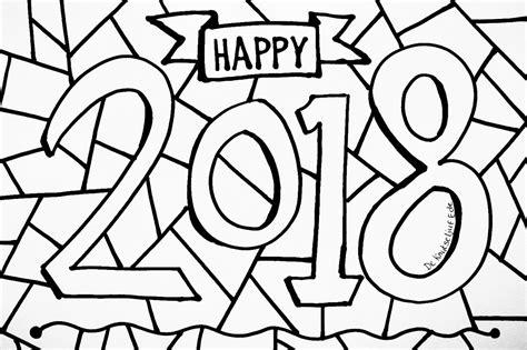 Kleurplaat Printen by Happy New Year 2018 Kleurplaat Nieuwjaar Kleurplaat