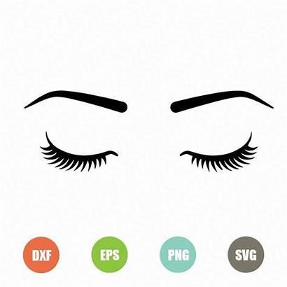 Svg Eyelashes Cricut Cut Silhouette Lips Cutting