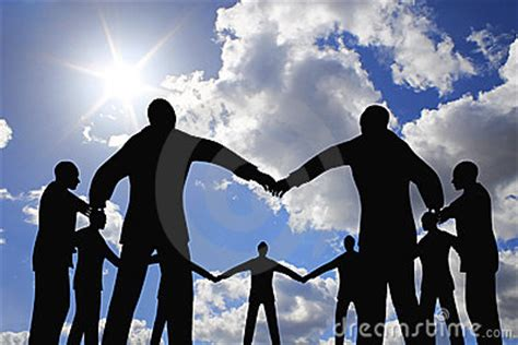 people group circle silhouette  sun sky collage royalty