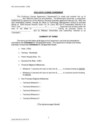 patent license agreement examples  word examples