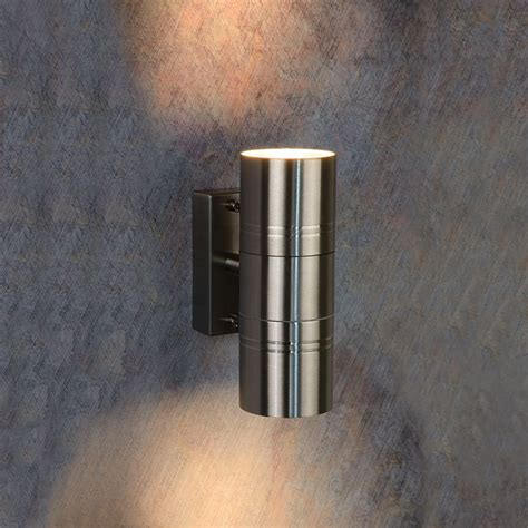 sale on lucide arne outdoor twin wall light satin chrome