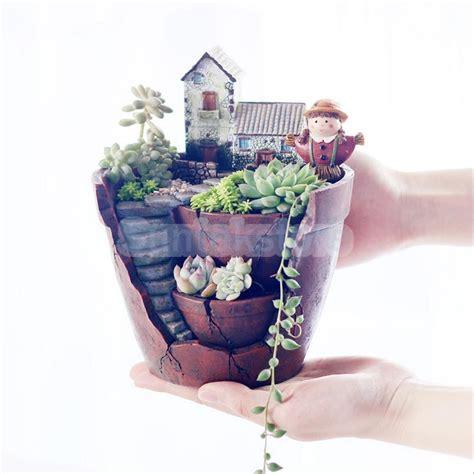 sky garden herb resin planter window sill box garden plant