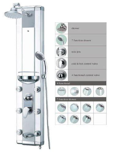 interaktiv shower panel akdy shower panel blue aluminum 50 quot shower panel