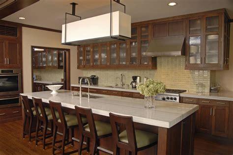 contemporary kitchen  custom cherry cabinets