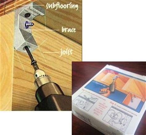 Tools & Accessories: Squeaky Floor Repair   Squeak Relief