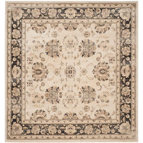7 square area rug safavieh vintage ivory brown 6 ft 7 in x 6 ft 7 in