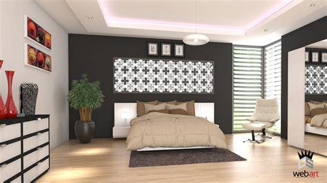 chambre 3d 3d design intérieur chambre parentale rendu realiste vray