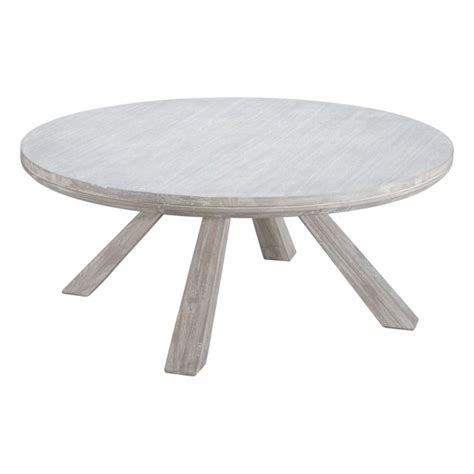 Coffee tables to reflect your style and inspire your home. Modern Contemporary Urban Living Lounge Room Round Coffee Table, White - Solid Acacia Wood, MDF ...
