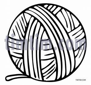 Free drawing of Ball of Yarn BW from the category Hobby ...