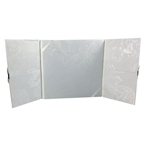 pocket folder black and white black white damask brocade silk wedding invitation