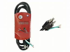 6 Ft 14  3 15a 125v 3 Wire Grounding Replacement Power Cord