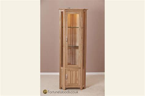 corner display cabinet corner oak display cabinet at fortune woods