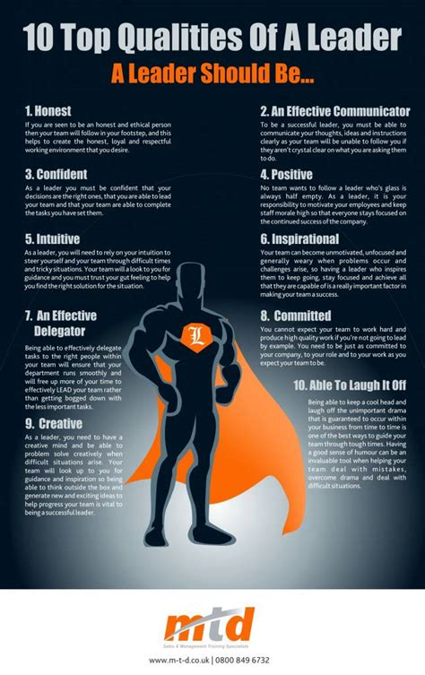 top qualities   leader infographic