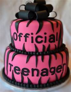 Official teenager birthday cake! Switch to blue or ...