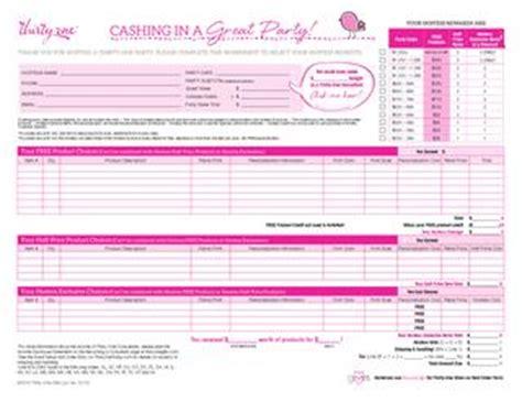 blank thirty one order form hostess order worksheet us by pink ladies 31 team leader