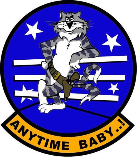 F14 Tomcat Anytime Baby Flight Insignia By Viperaviator