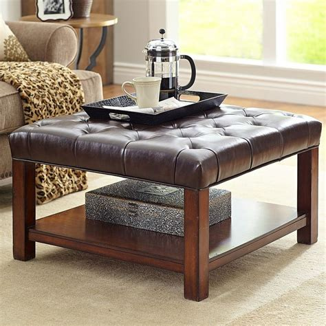 Leather Ottoman Coffee Table Pottery Barn