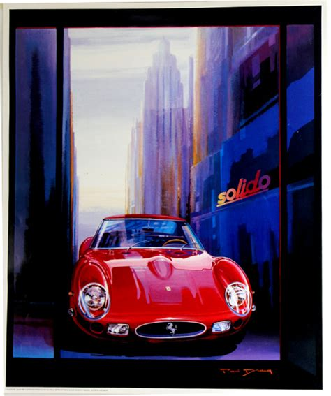 Welcome to the official account of ferrari, italian excellence that makes the world dream. Affiche Ferrari GTO Paul Bracq - www.french-vintage-posters.fr