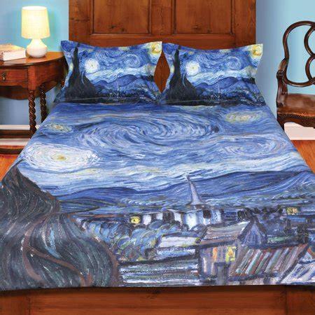van gogh starry night painting duvet cover  set