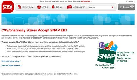 ebt cvs card accept stamps does
