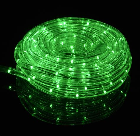 green led outdoor string rope light 33ft clear